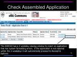 check assembled application2