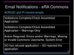 email notifications era commons