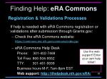 finding help era commons