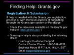 finding help grants gov