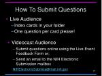 how to submit questions
