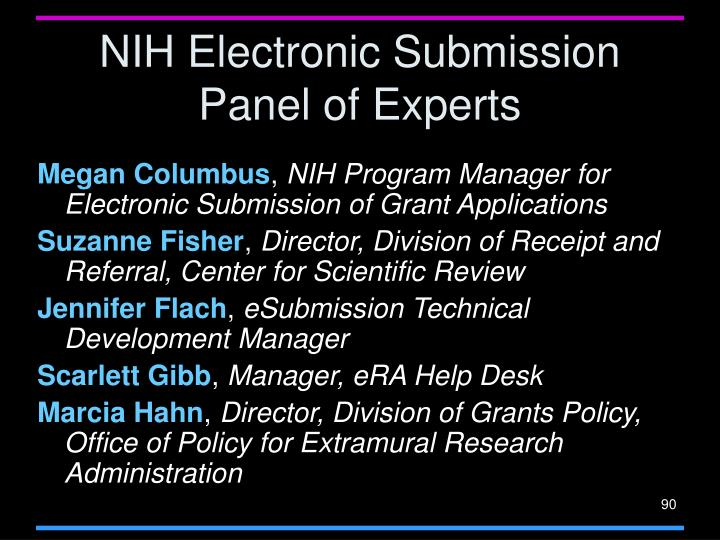 NIH Electronic Submission