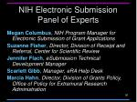 nih electronic submission panel of experts