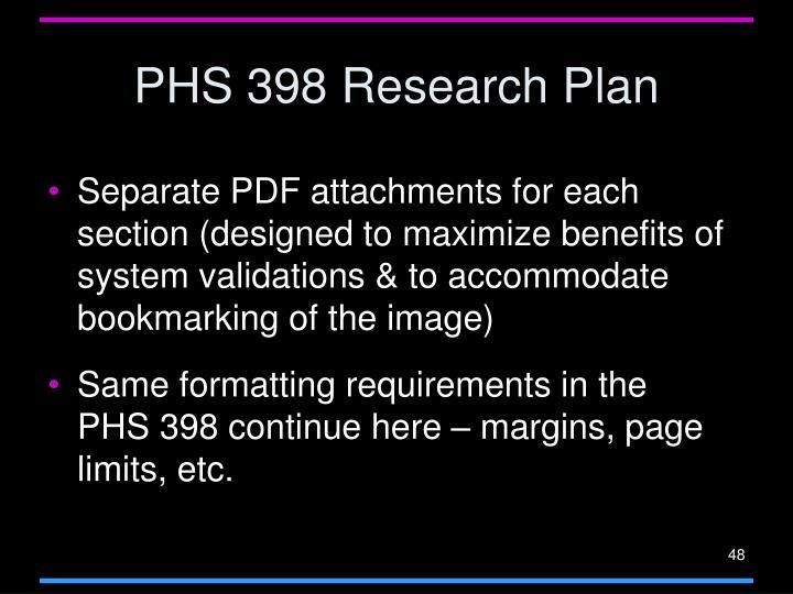 PHS 398 Research Plan