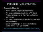 phs 398 research plan1