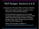 r r budget sections a b1