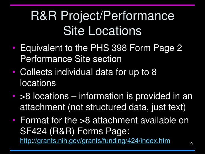 R&R Project/Performance