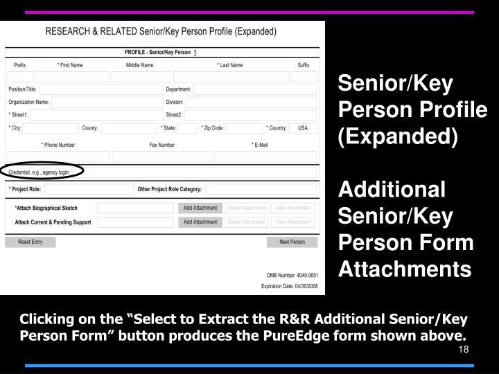 Senior/Key Person Profile (Expanded)