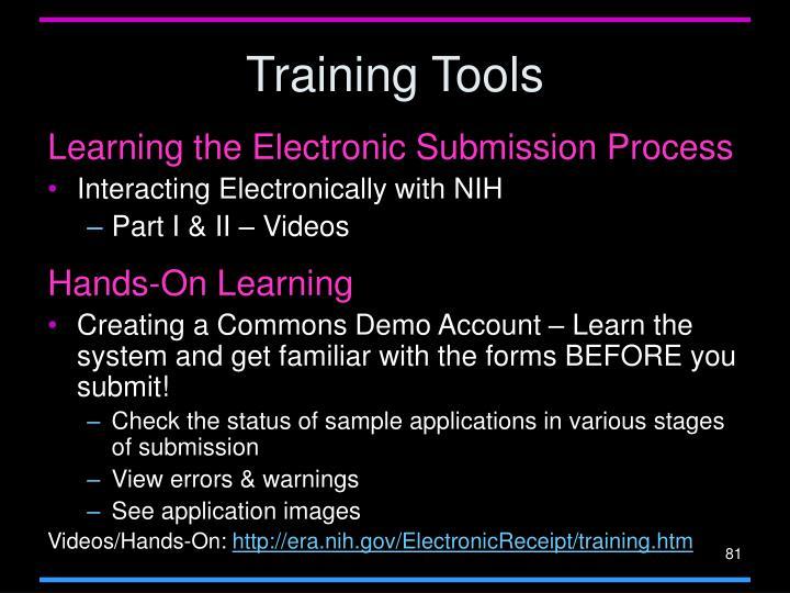 Training Tools