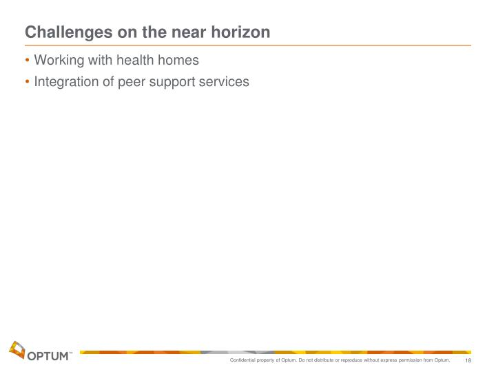Challenges on the near horizon