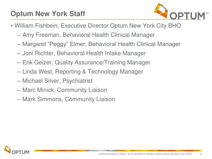 Optum new york staff