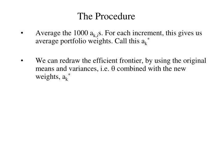 The Procedure