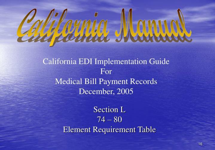 California Manual