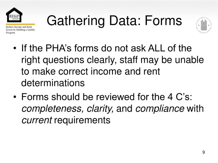Gathering Data: Forms