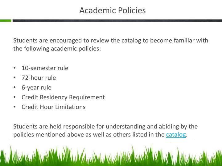 Academic Policies
