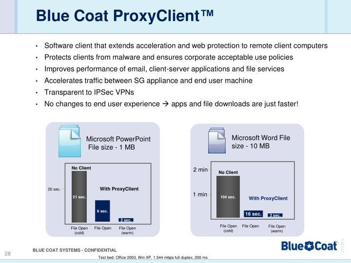 Blue Coat ProxyClient