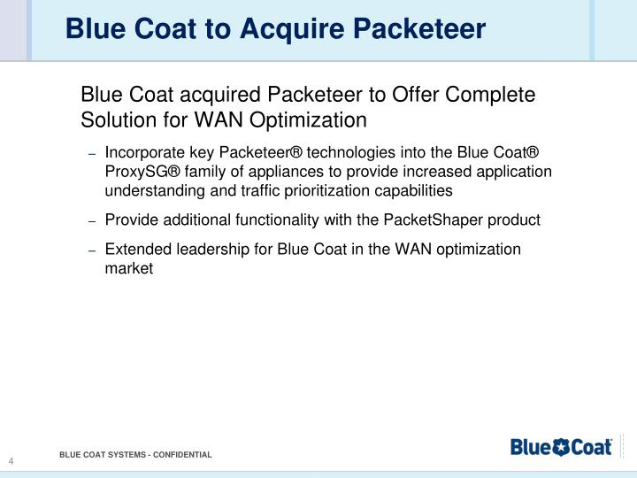Blue Coat to Acquire Packeteer