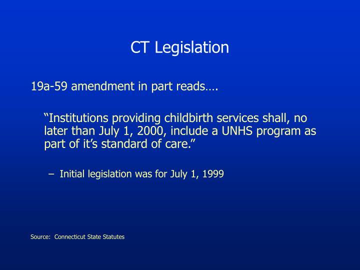 CT Legislation