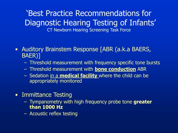 'Best Practice Recommendations for