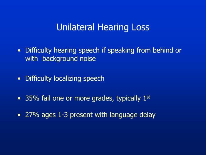 Unilateral Hearing Loss