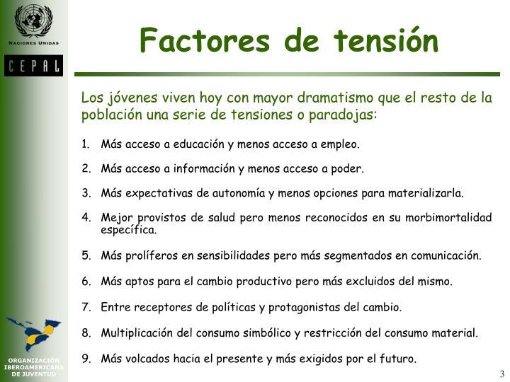 Factores de tensión
