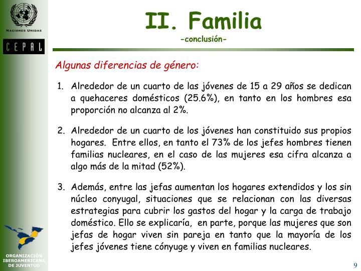 II. Familia