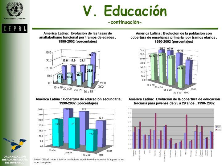 V. Educación