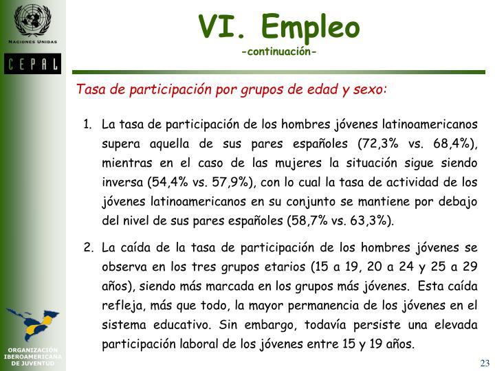 VI. Empleo