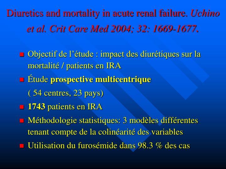 Diuretics and mortality in acute renal failure.