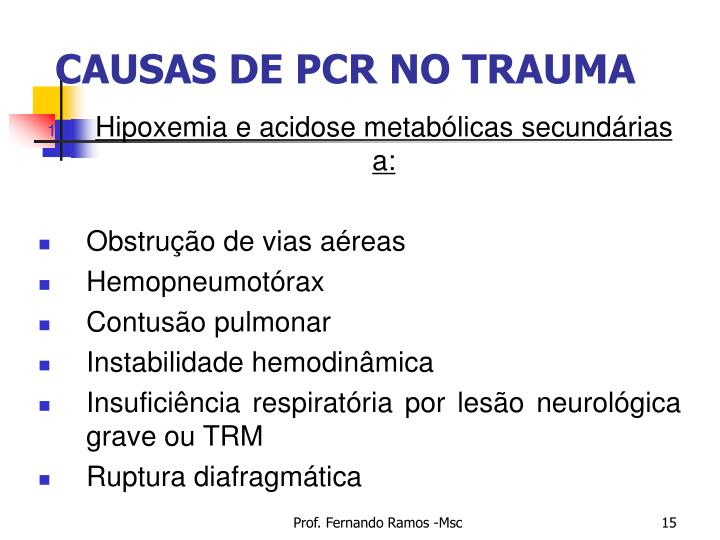 CAUSAS DE PCR NO TRAUMA
