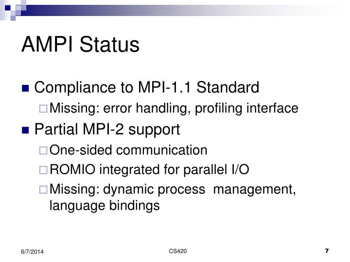AMPI Status
