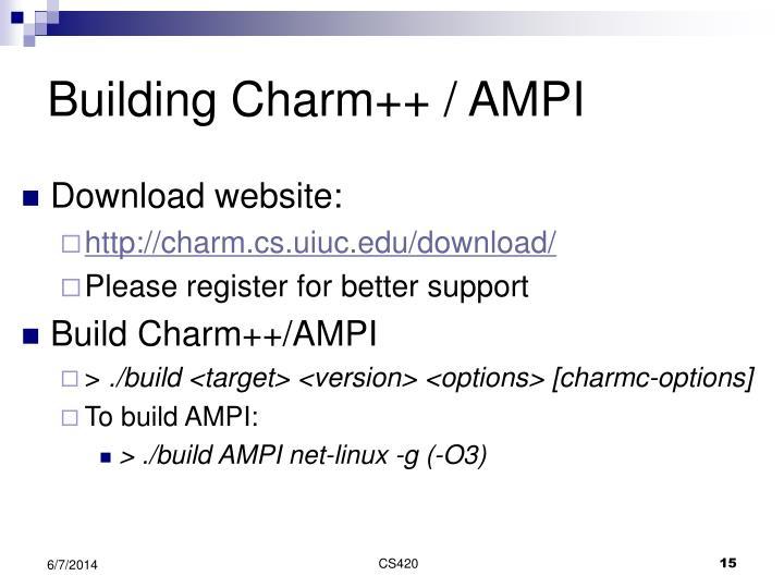 Building Charm++ / AMPI
