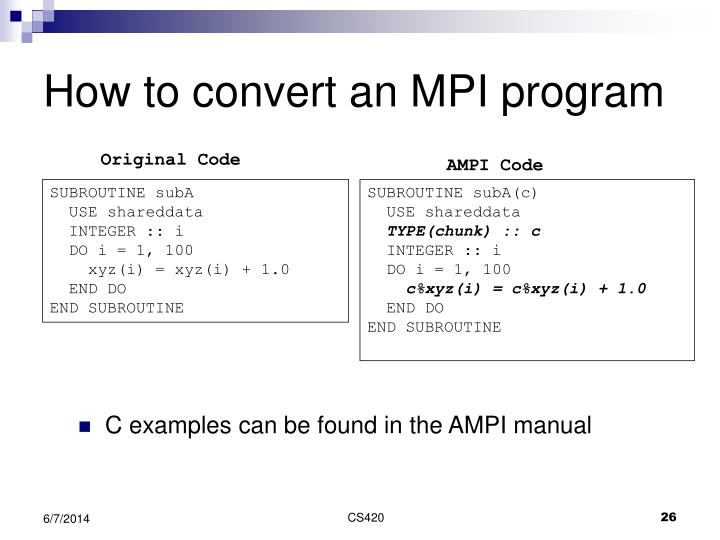 AMPI Code