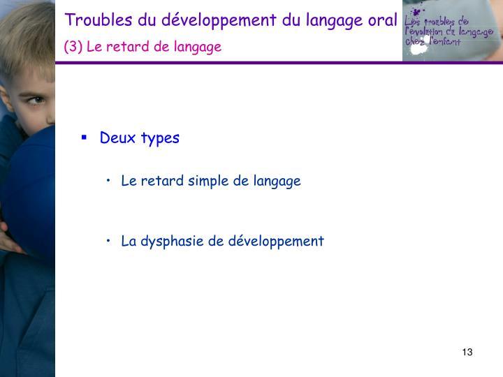 Troubles du développement du langage oral