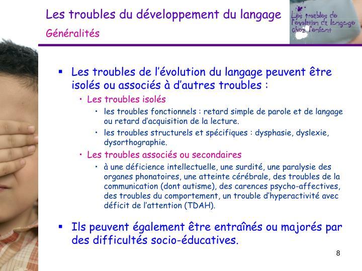 Les troubles du développement du langage
