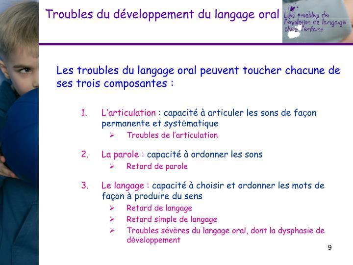 Troubles du développement du langage
