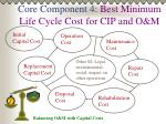 core component 4 best minimum life cycle cost for cip and o m