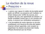 la r action de la revue prescrire