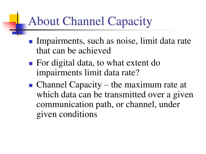 About Channel Capacity