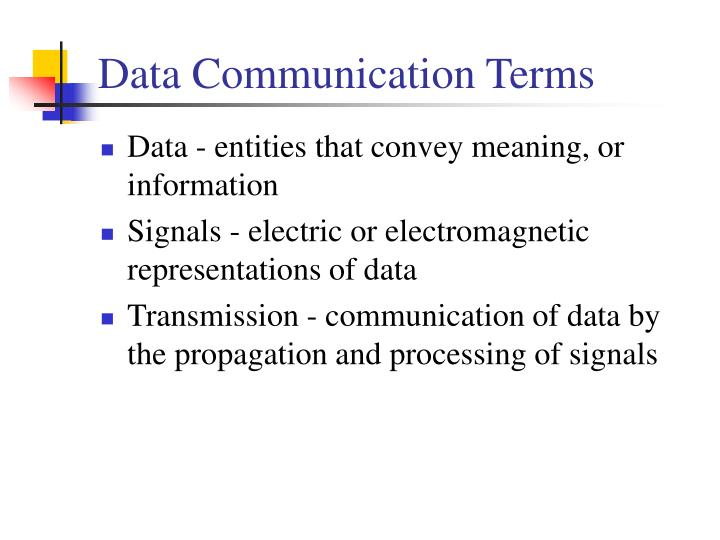 Data Communication Terms