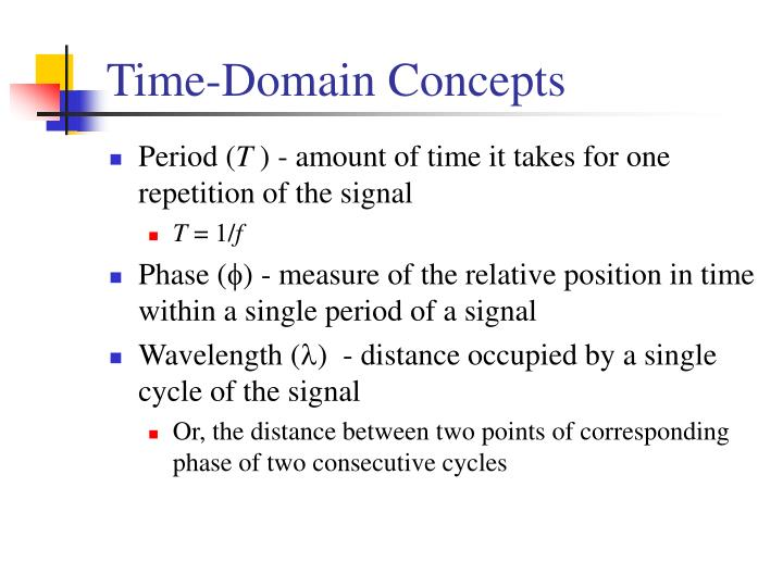 Time-Domain Concepts