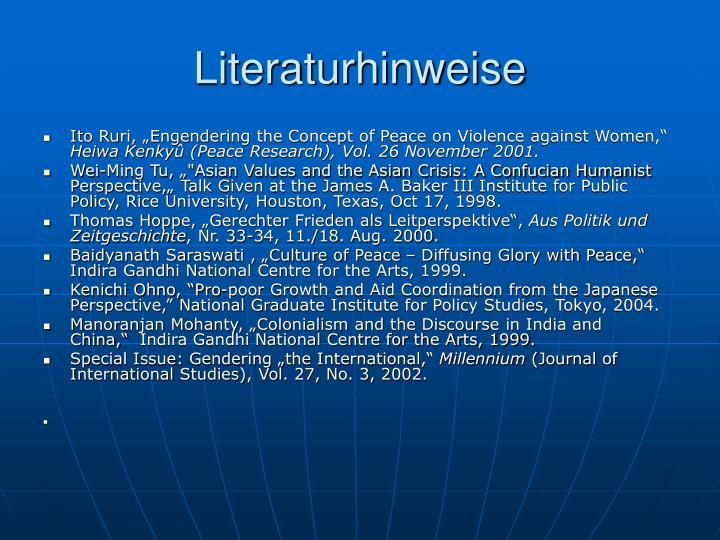 Literaturhinweise