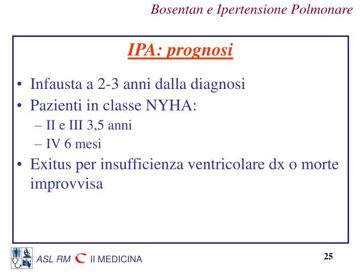 IPA: prognosi