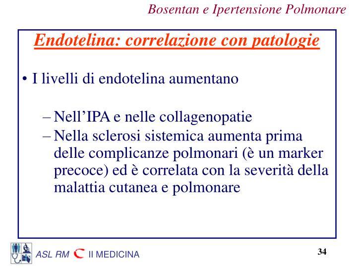 Endotelina: correlazione con patologie