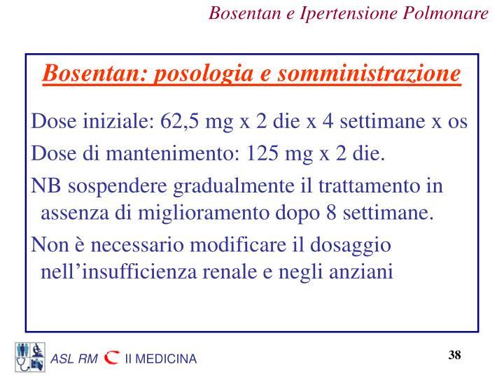 Bosentan: posologia e somministrazione