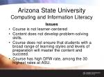 arizona state university computing and information literacy