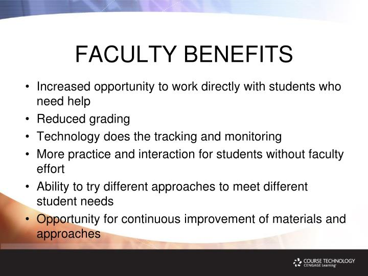 FACULTY BENEFITS