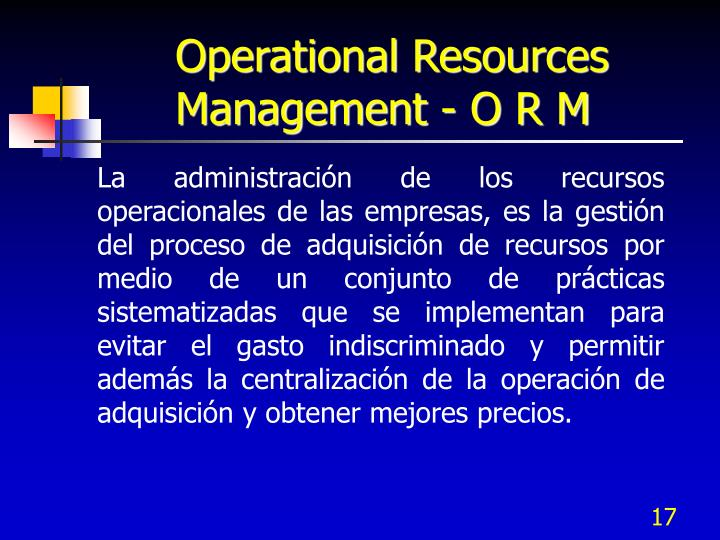 Operational Resources