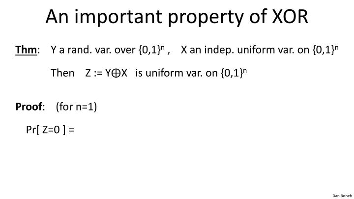 An important property of XOR