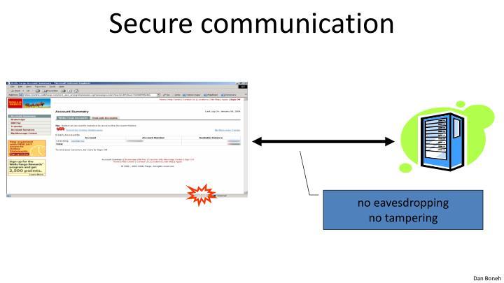 Secure communication